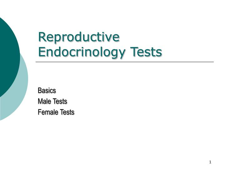 reproductive endocrinology tests
