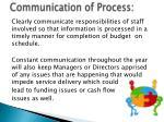 communication of process