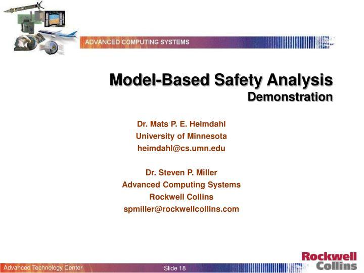 Model-Based Safety Analysis