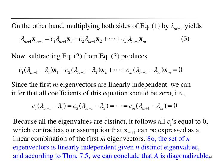 On the other hand, multiplying both sides of Eq. (1) by