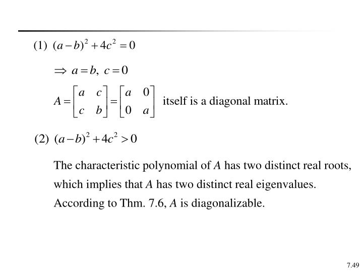 The characteristic polynomial of