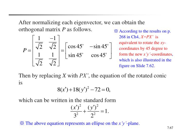 After normalizing each eigenvector, we can obtain the orthogonal matrix
