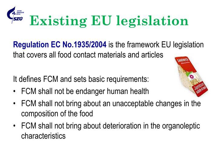 Existing EU legislation