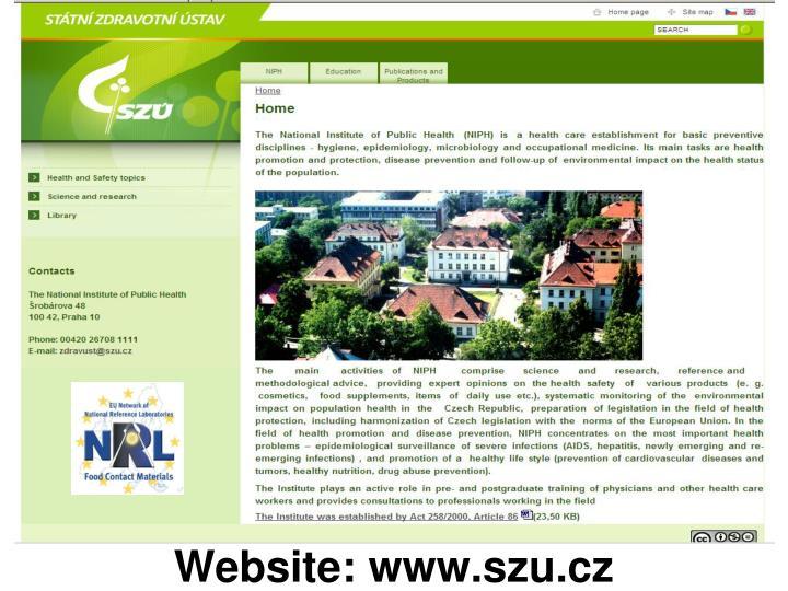 Website: www.szu.cz
