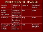 indications for imaging1