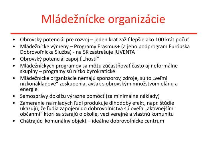 Mládežnícke organizácie