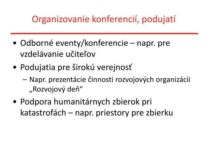 Organizovanie konferencií, podujatí