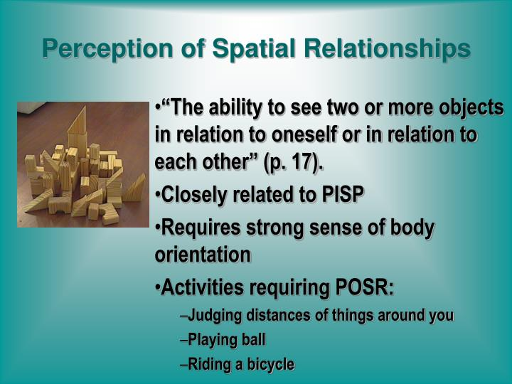 Perception of Spatial Relationships