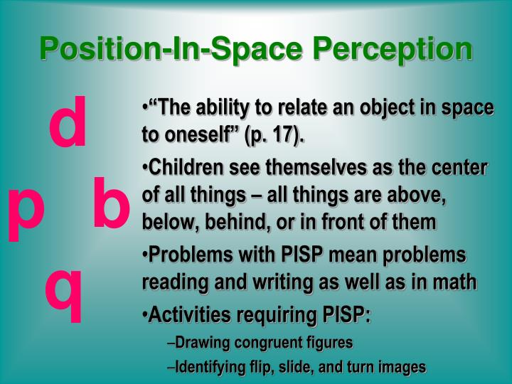 Position-In-Space Perception