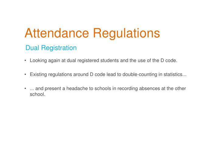 Attendance Regulations
