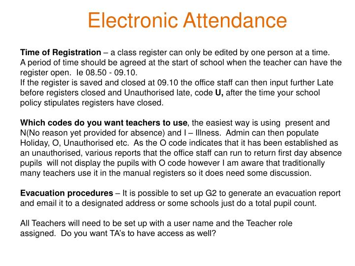 Electronic Attendance