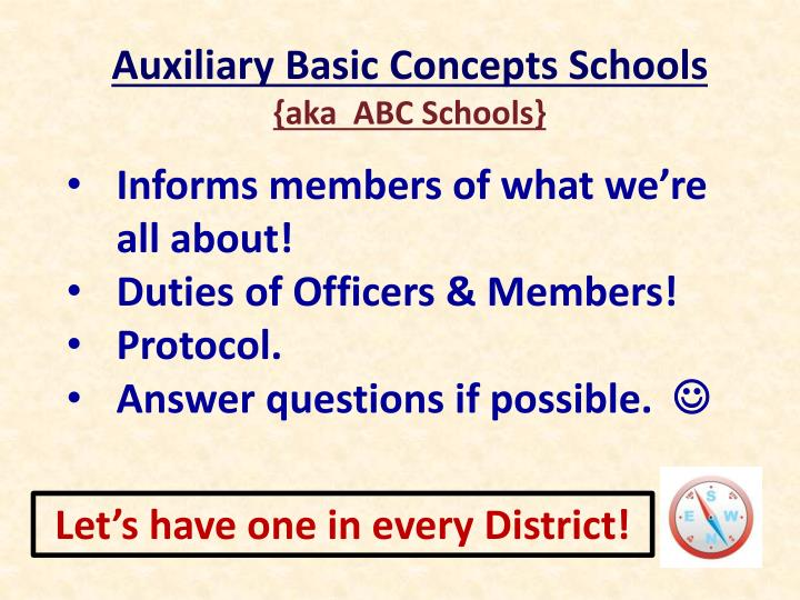 Auxiliary Basic Concepts Schools