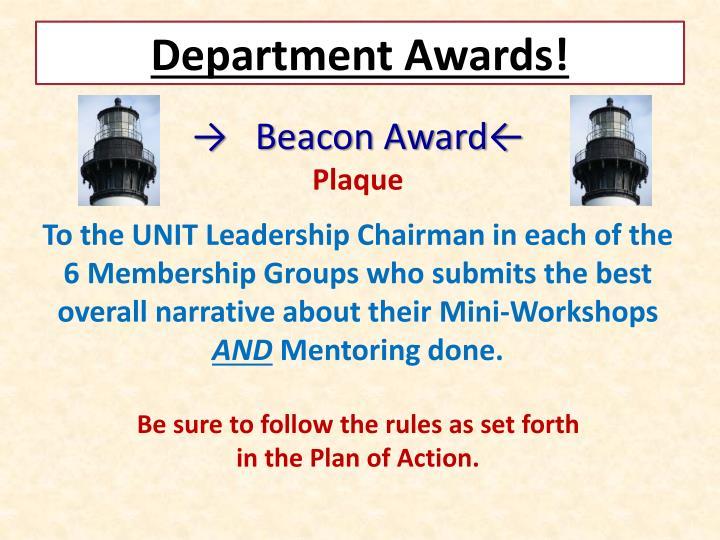 Department Awards!