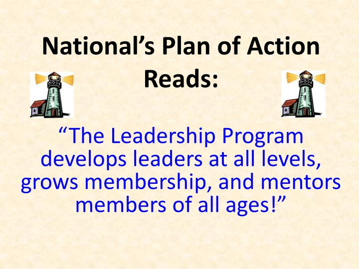 National's Plan of Action