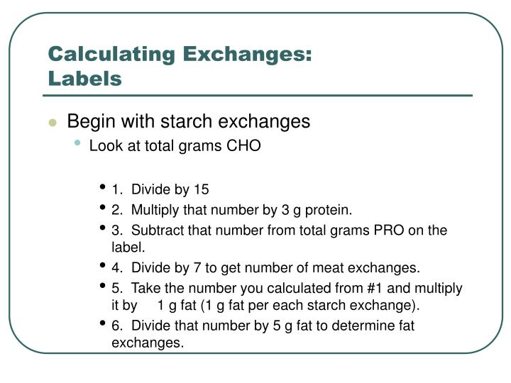 Calculating Exchanges: