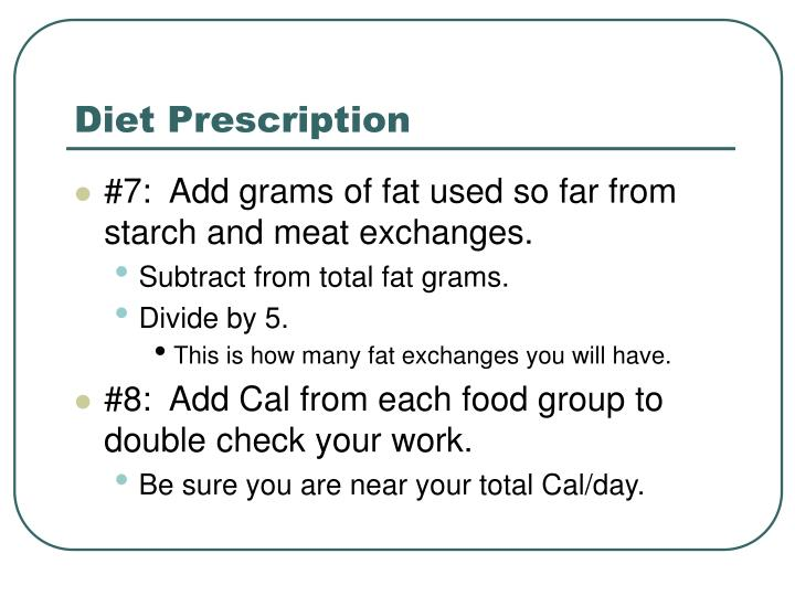 Diet Prescription
