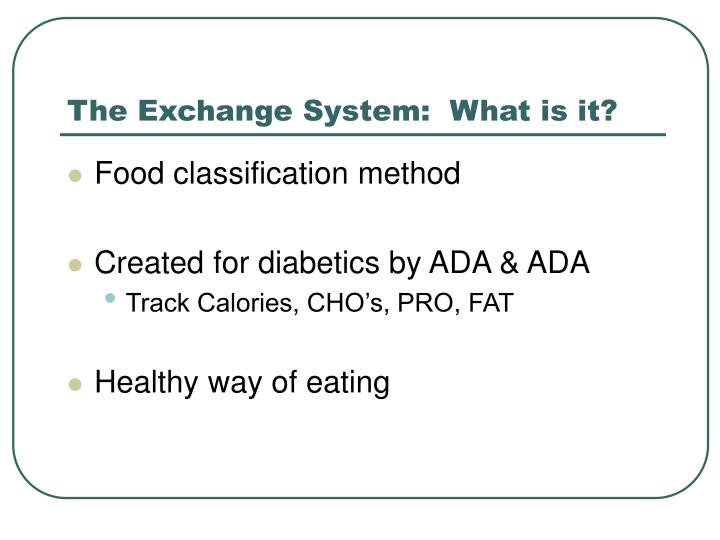 The exchange system what is it