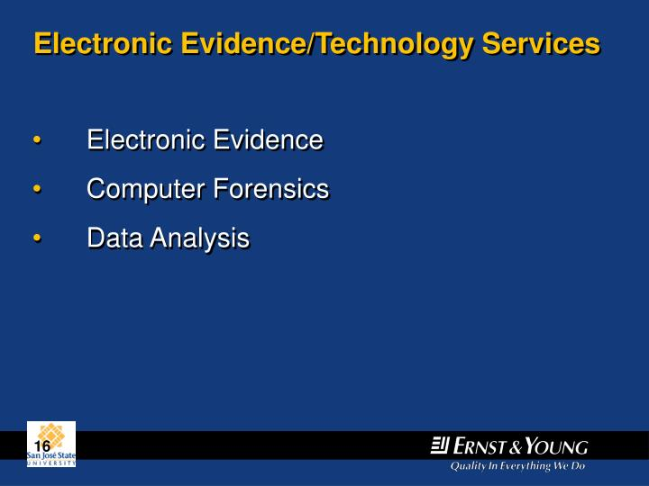 Electronic Evidence/Technology Services