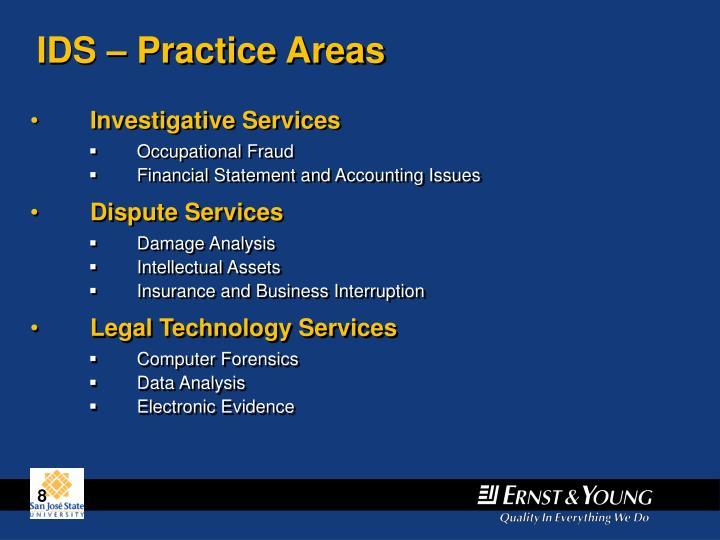 IDS – Practice Areas