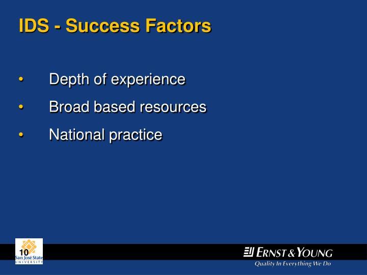 IDS - Success Factors