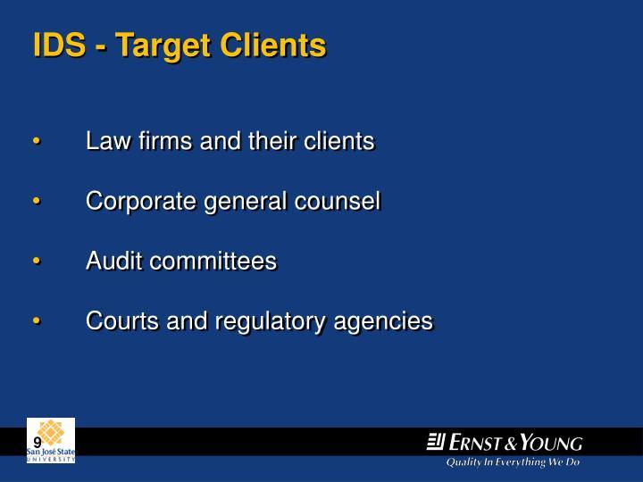 IDS - Target Clients