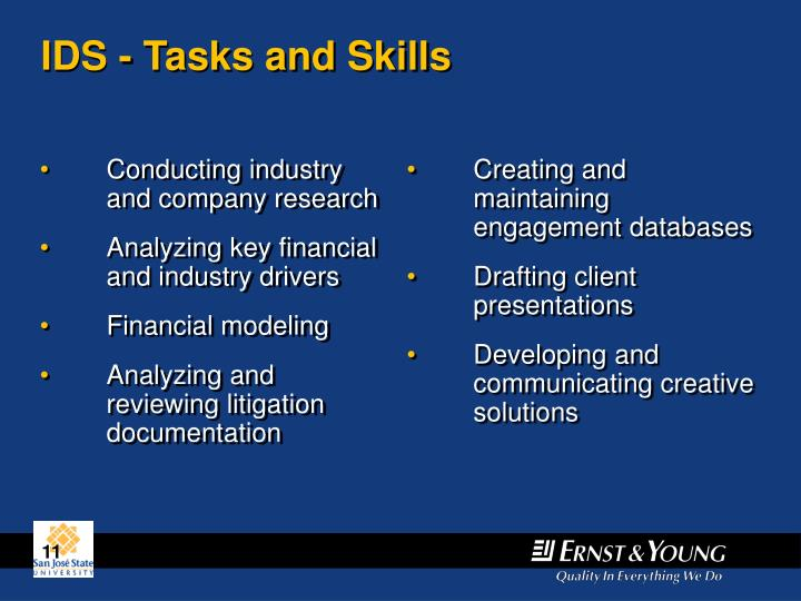 Conducting industry and company research