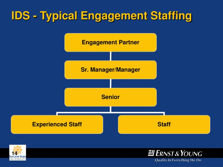 IDS - Typical Engagement Staffing