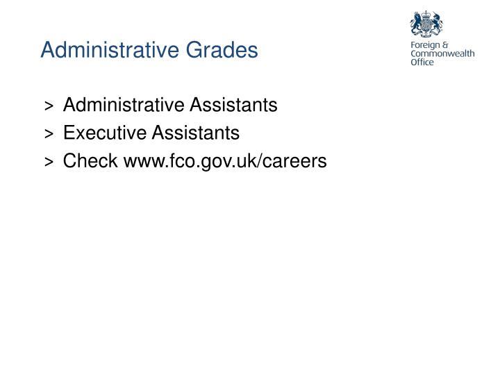 Administrative Grades