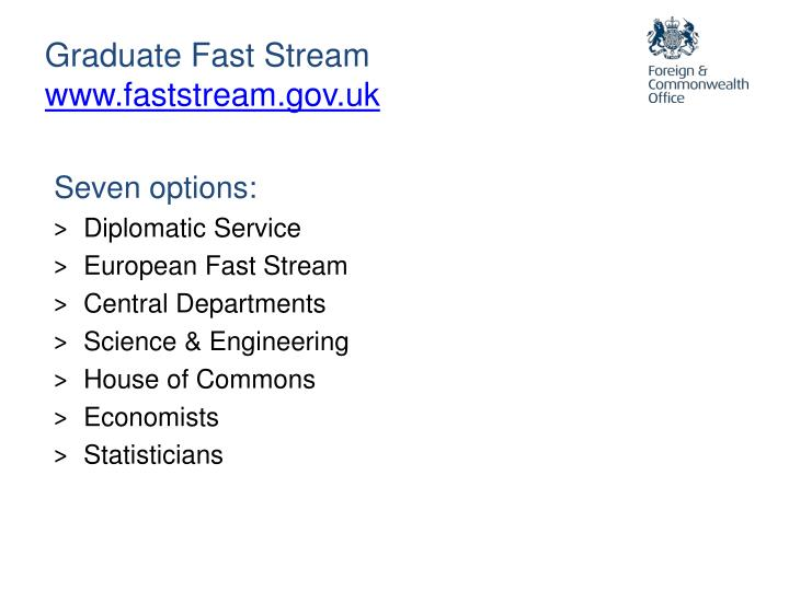 Graduate Fast Stream