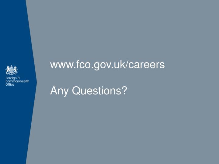www.fco.gov.uk/careers