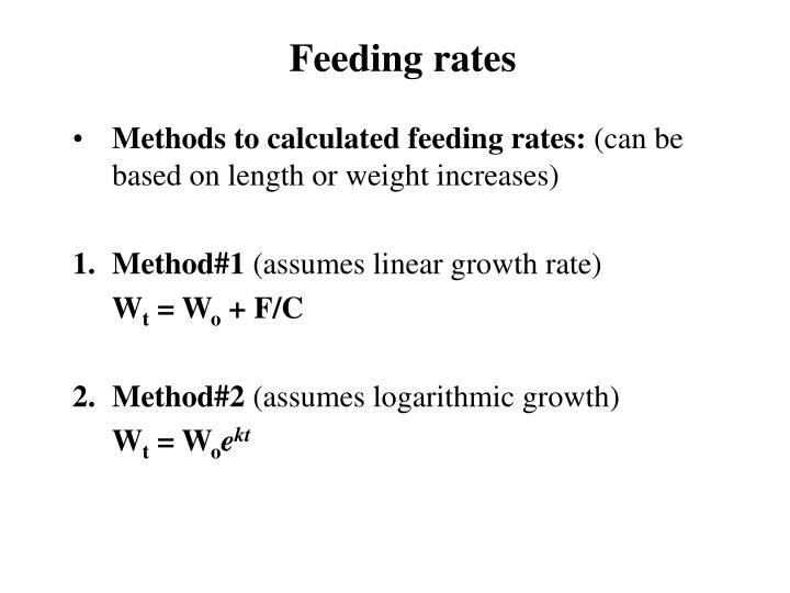 Feeding rates