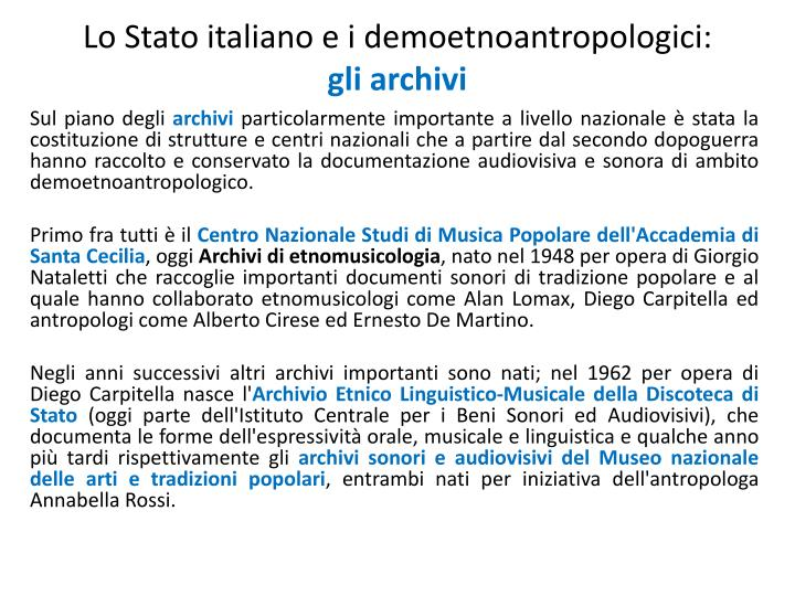 Lo Stato italiano e i