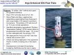 argo enhanced sss float trials