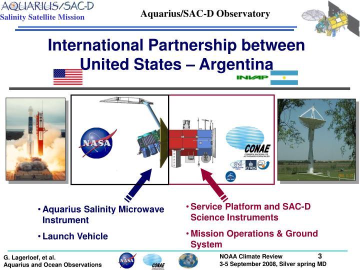 Aquarius/SAC-D Observatory