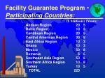 facility guarantee program participating countries