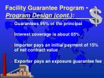 facility guarantee program program design cont1