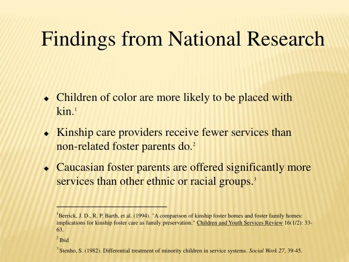 Findings from National Research