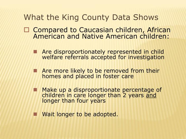 What the King County Data Shows