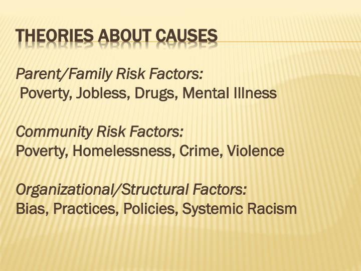 Parent/Family Risk Factors: