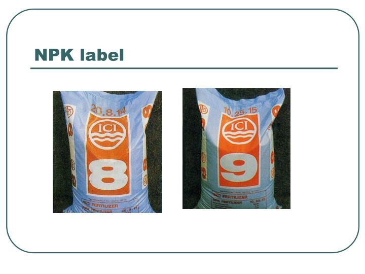 NPK label