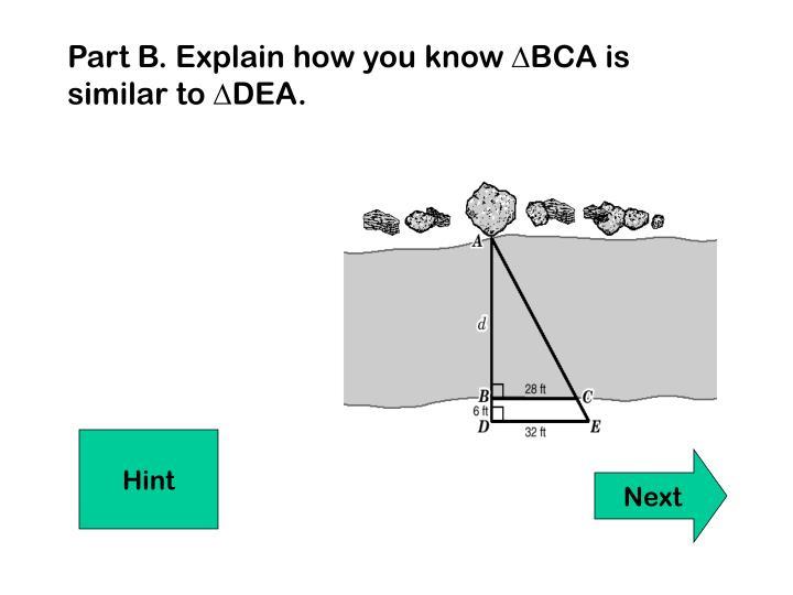 Part B. Explain how you know