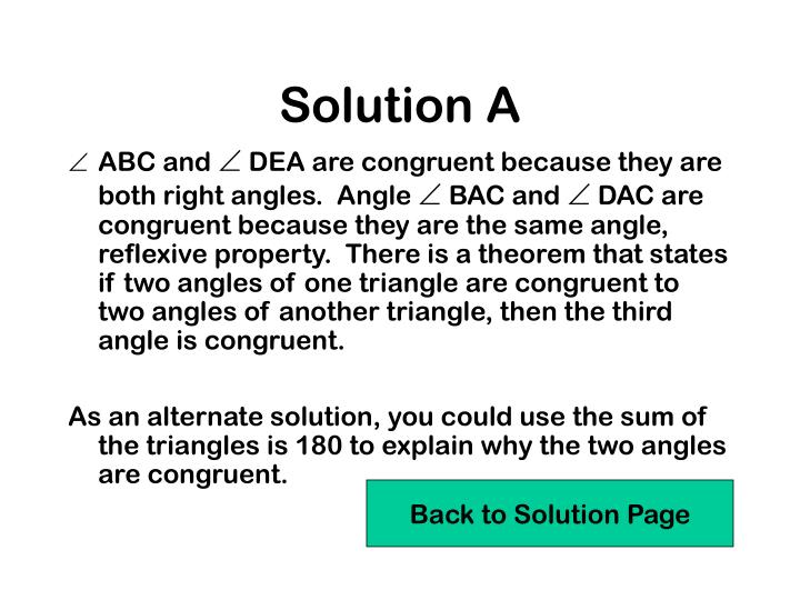 Solution A