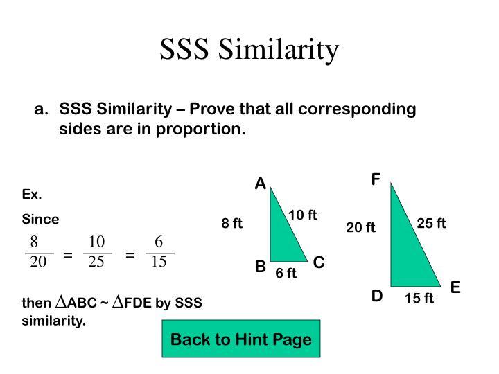 SSS Similarity