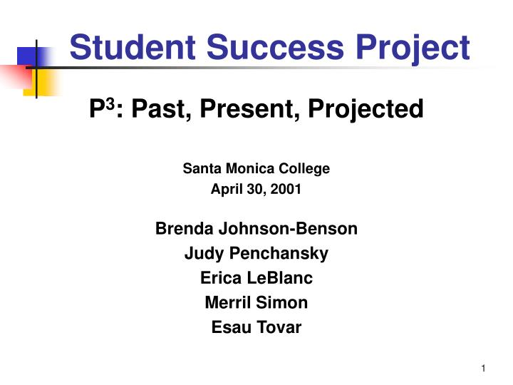 Student Success Project