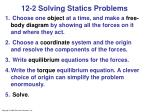 12 2 solving statics problems