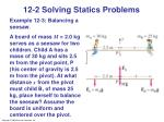 12 2 solving statics problems1