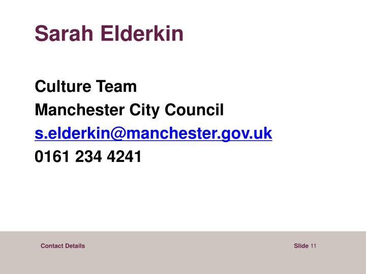 Sarah Elderkin