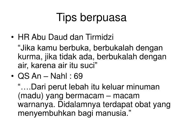 Tips berpuasa