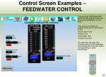 control screen examples feedwater control