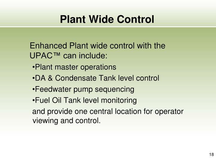 Plant Wide Control